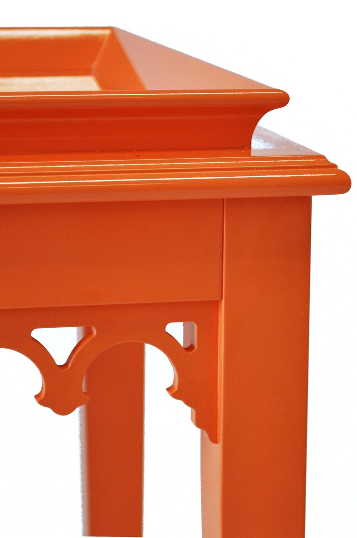Detail Of Orange Newport Console