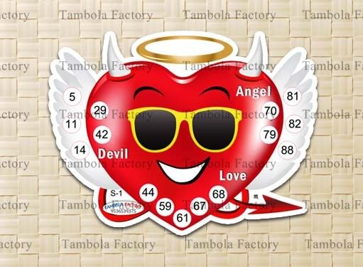 Angel and Demon Printed Tambola Ticket