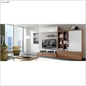 two tone tv wall unit
