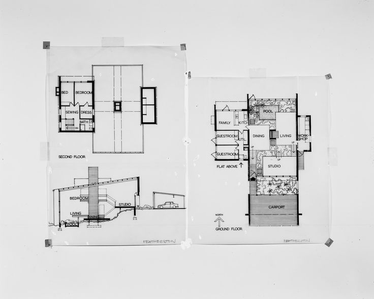Featherston House, Ivanhoe  Plans and sections