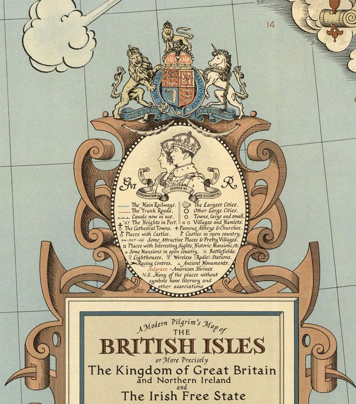 vintage map of britain - Google Search