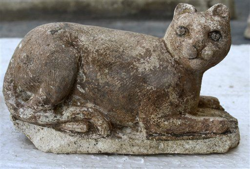 I just love that the ancient Egyptians worshiped cats. The ancient cat-goddess Bastet found among the temple's ruins in the Kom el-Dekkah area of the Mediterranean port city of Alexandria. Egypt says its archaeologists have unearthed a Ptolemaic temple dating back more than 2,000 years and which may have been dedicated to the ancient cat-goddess.