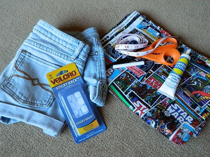DIY Fabric Panel Shorts with No Sewing