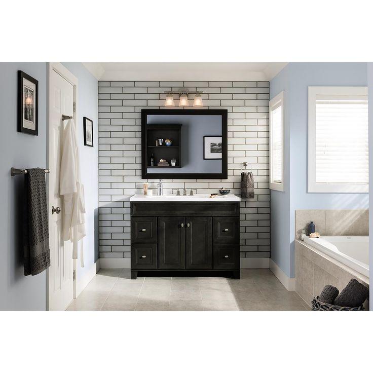 Shop Diamond Goslin 34 In H X 42 W Storm Rectangular Bathroom Mirror