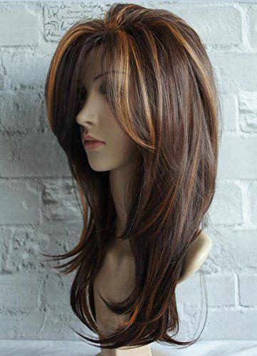 Features: Schulterlanges Haar Perücken Farbe ist …