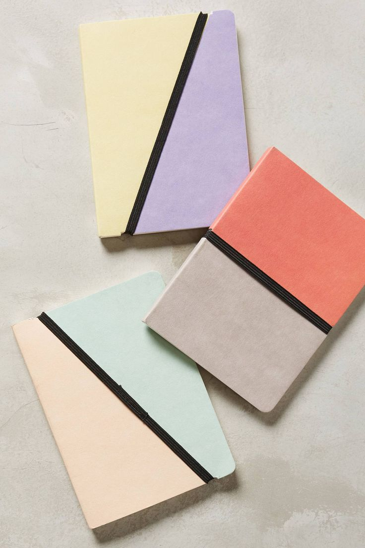 Diy notebook covers so your books and you will stand out at school - Color Block Notebooks For Spring