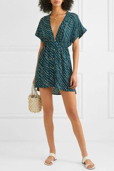 ViX – Ventana Ocean Fuji printed voile mini dress