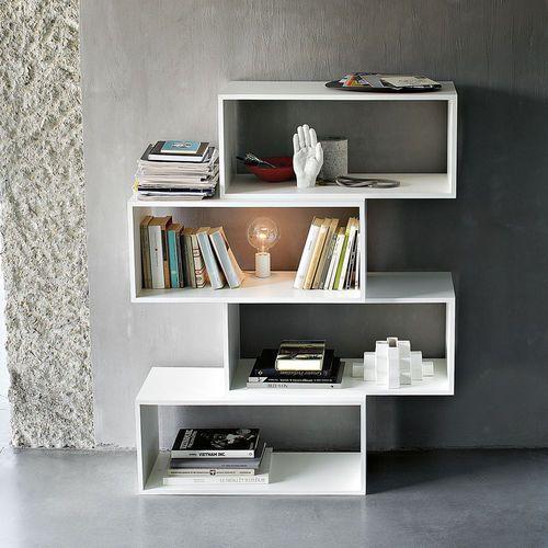 Biblioteca modular / moderna / de melamina / de Studio Nendo ZIG ZAG LEMA Home