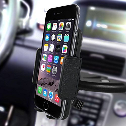 Car Mount,Kainnt CD Slot Smartphone Car Mount holder Car Cradle for iPhone7 7Plus 6 6Plus 6s 6s plus 5S 5C SE 4S Samsung Galaxy S3 S4 S5 S6 and All 3.5-5.8inch Phone Device, GPS Device #carscampus