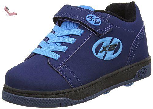 Straight Up (TX2297D), Sneakers Basses mixte enfant - - Black/Plaid/Charcoal/White, 31 EU - 12 UKHEELYS