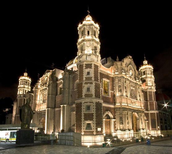 basilica guadalupe La iluminación rescata el esplendor de la Antigua Basílica de Guadalupe