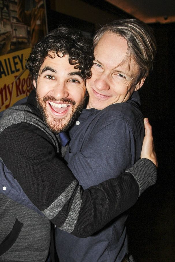 Darren Criss with HEDWIG co-creator and original star John Cameron Mitchell