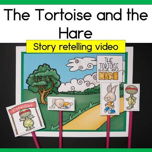 This is a short retelling of the fable The Tortoise and the Hare to show during a study of fairy tales or fables.