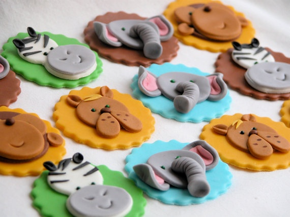 Sweet Safari Theme Cupcake Toppers by LikeButter by LikeButter, $24.00
