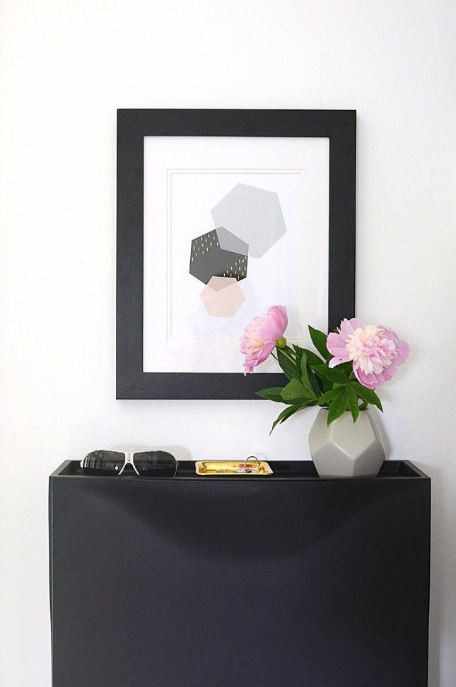 This printable + free modern hexagon poster belongs on your gallery wall. Get the download.