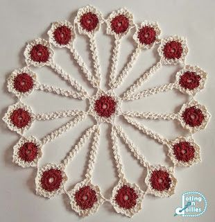 Doting on Doilies: Violets Doily
