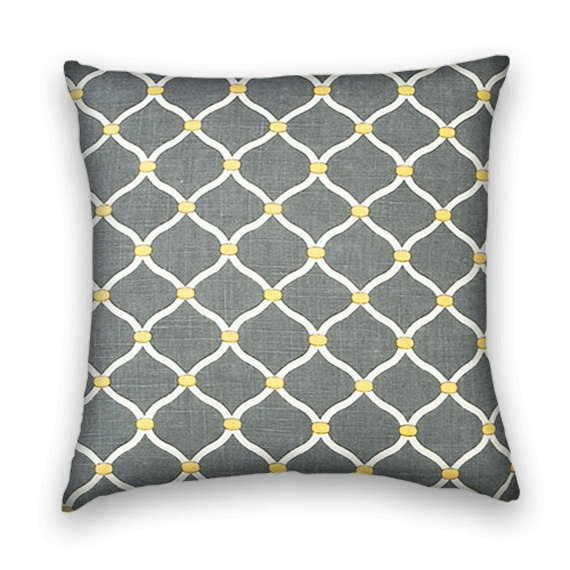 Charcoal Contemporary Decorative Pillow By CodyandCooperDesigns, $45.00