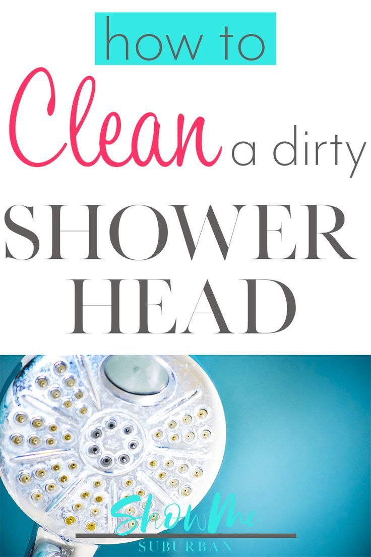 Here S How To Clean A Dirty Shower Head Easily Remove Bacteria Mildew And Lime Scale Using Natural Ings You Probably Already Have At Home