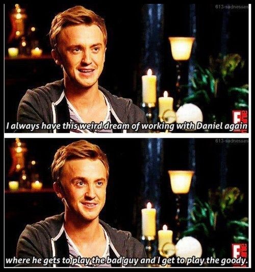 I will wait for that day, when Harry is the bad guy and draco is the good guy