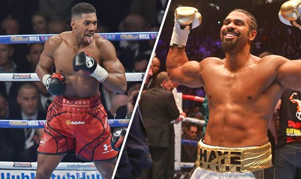 David Haye fight with Anthony Joshua a long way off yet claims promoter Eddie Hearn