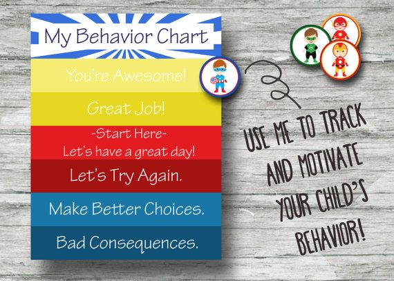 Printable Superhero Behavior Chart- Instant Download- Captain America, Iron Man, Flash, and Green Lantern PDF