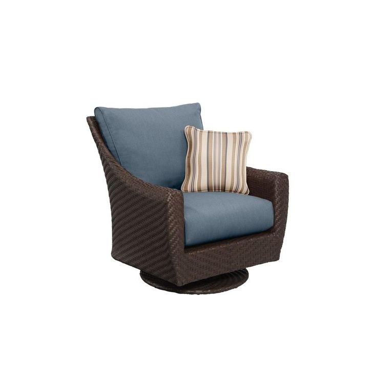 Brown Jordan Highland Patio Motion Lounge Chair in Denim ...