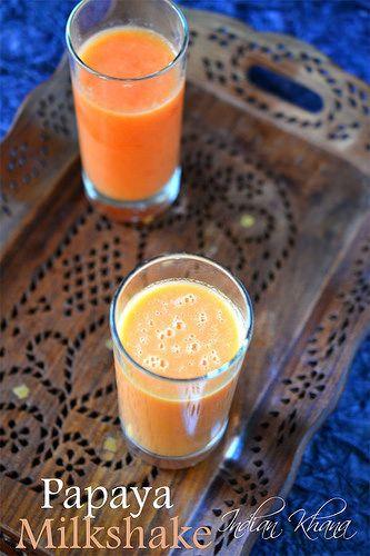 Indian Khana: Papaya Milkshake | Papaya Recipes | Summer Drinks ...