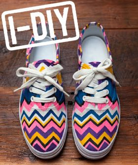 DIY shoes :)Diy Ideas, Diy Shoes, Crafts Ideas, Painting Shoes, Diy Crafts, Projects Ideas, Missoni, Sneakers, Chevron Shoes