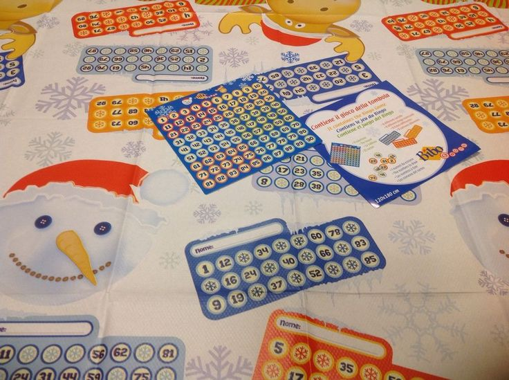 2 x BINGO THEMED TABLE COVERS, 120 X 180cm, CHRISTMAS BINGO GAME PARTY,KIDS GAME #bibo #Christmas