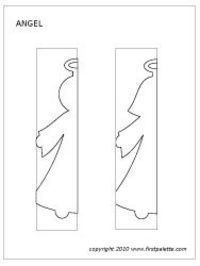 Angel paper doll chain template: