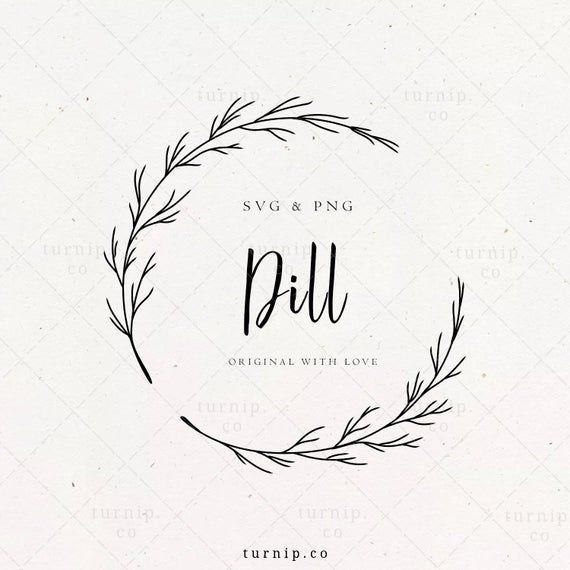 Wreath Design Svg Hand Drawn Botanical Dill Clipart Half Circle Branch Frame Logo Label Png Planner Laurel Wreath Border Commercial Use In 2021 How To Draw Hands Frame Logo Wreath Designs