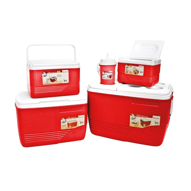 Yellow Cooler Box Set 5pc Ice Chest Camping Picnic Insulated Food Containers