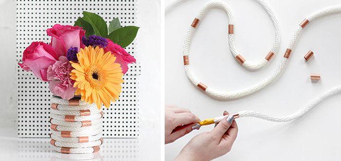 DIY: Koperen vaas met touw