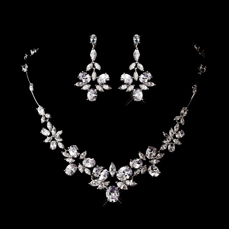 Affordable Elegance Bridal - CZ Bridal Necklace and Chandelier Earrings - sale!, $99.99 (http://www.affordableelegancebridal.com/cz-bridal-necklace-and-chandelier-earrings-sale/)