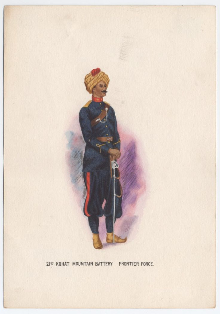 British; 21st Kohat Mountain Battery Frontier Force by K E Rose
