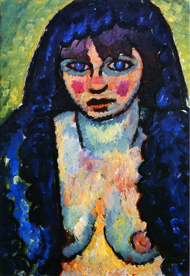 Portrait of Katia, Alexei Jawlensky c. 1912
