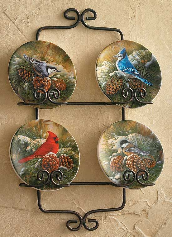 decorative plates | Songbirds Miniature Decorative Plates Set of 4
