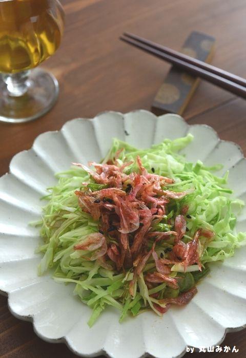 小エビとキャベツのネギ胡麻ポン酢サラダ【レシピ有り】 - お勝手ことこと 印刷は、レシピ枠内のプリンタの絵を押してください。