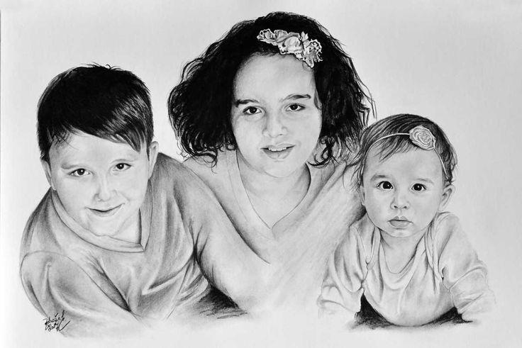 Kresba sourozenců