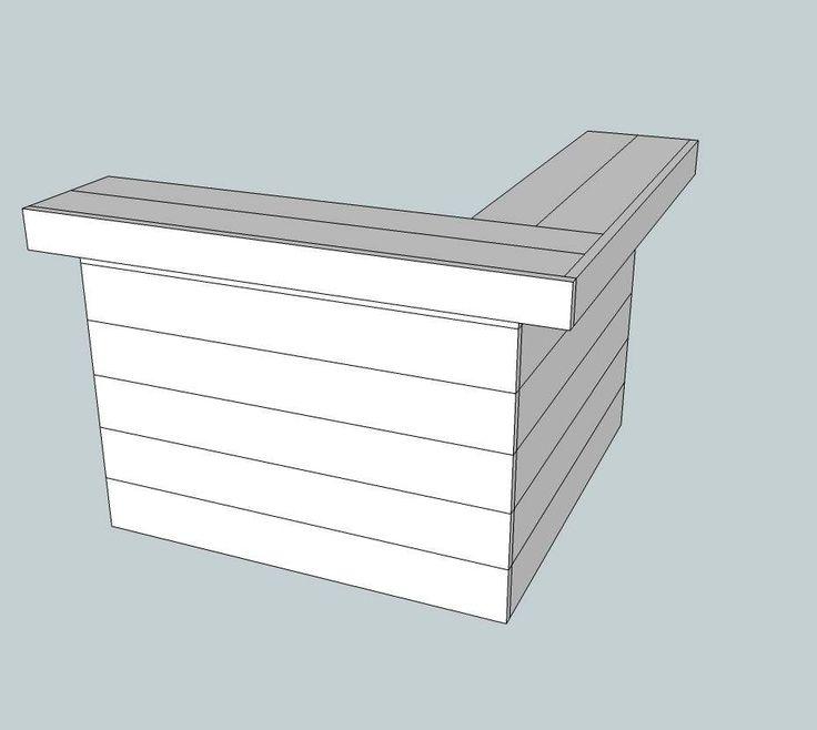 Doe het zelf voorbeeld, #hoekbar van steigerhout.