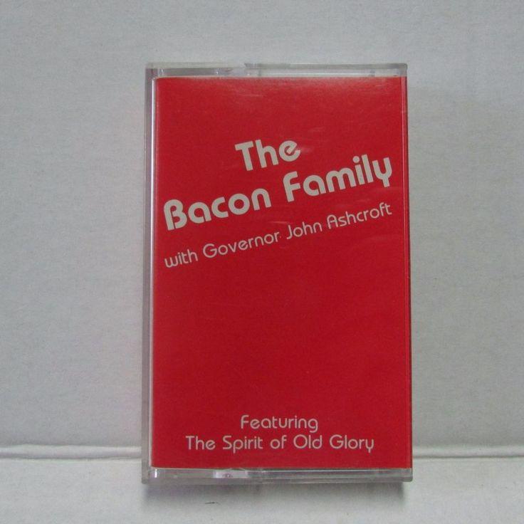 The Bacon Family w/ Governor John Ashcroft Cassette Tape The Spirit of Old Glory #Christian