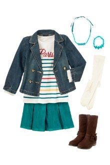 This would be a cute outfit for the first day of school- love the boots! #firstdaylook