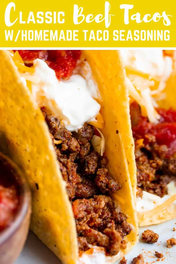 Best Classic Ground Beef Tacos Recipe Ground Beef Tacos Tacos Beef Beef Tacos Recipes