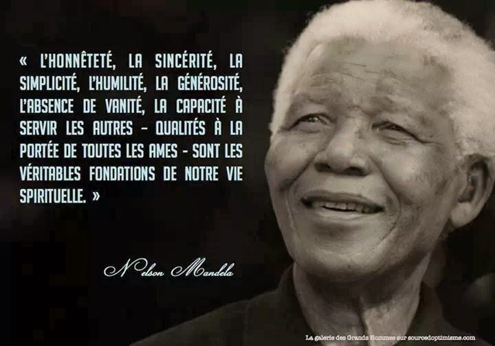 Citations option bonheur: Citation avec portrait de Nelson Mandela
