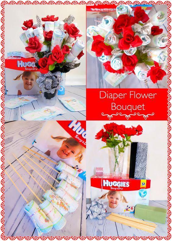 diaper flower bouquet