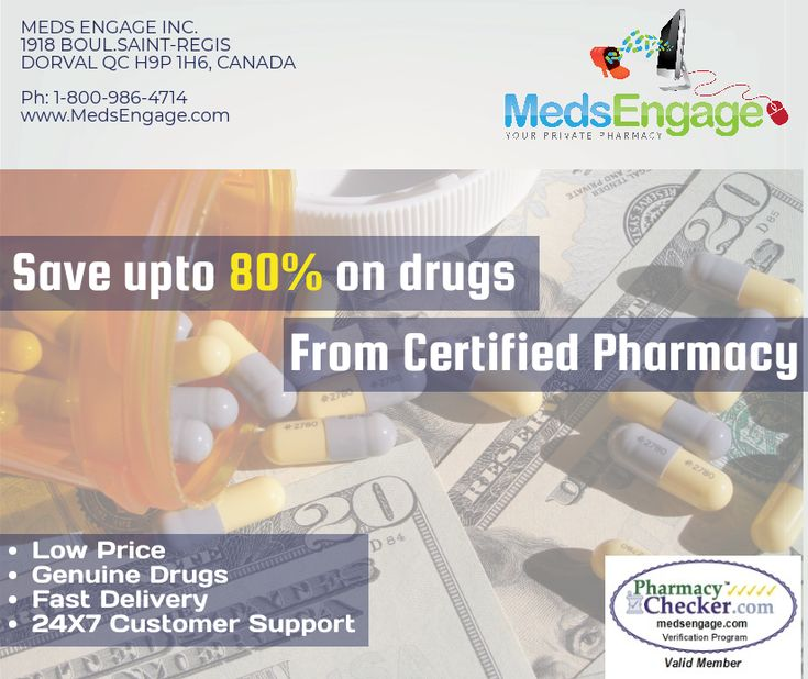 Save upto 80% On Drugs  from Certified Online Canadian Pharmacy.
