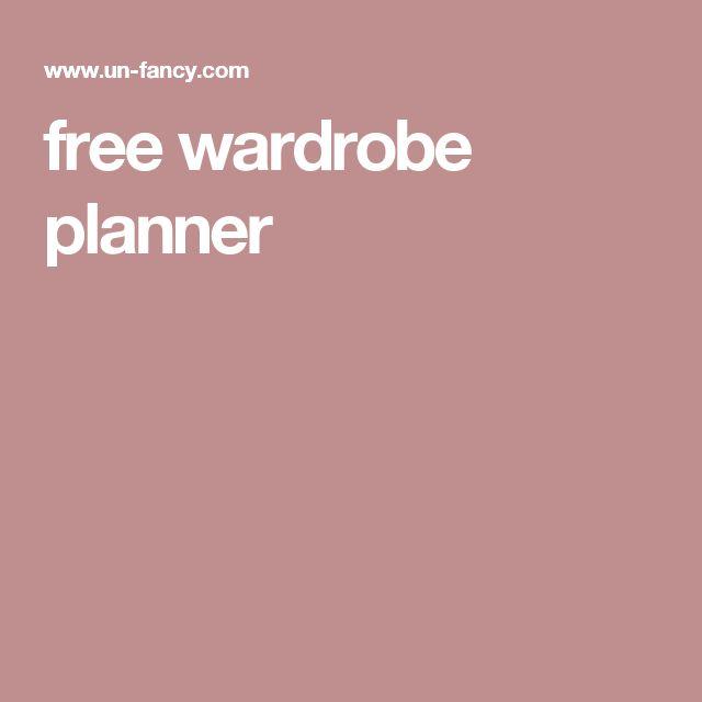 Nice free wardrobe planner