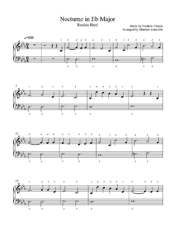 nocturne chopin piano sheet pdf