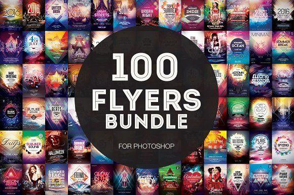 100+ Flyer Templates - Mega Bundle by styleWish on @creativemarket