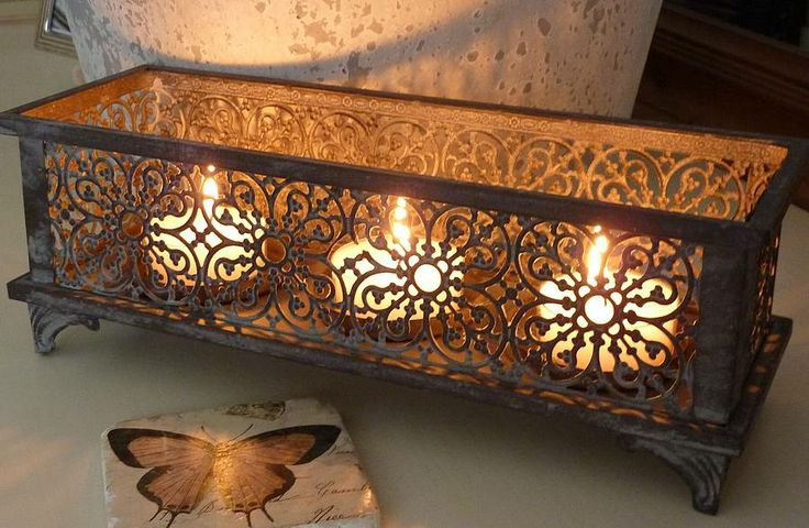 candle holder for downstairs alcove or on tables upstairs